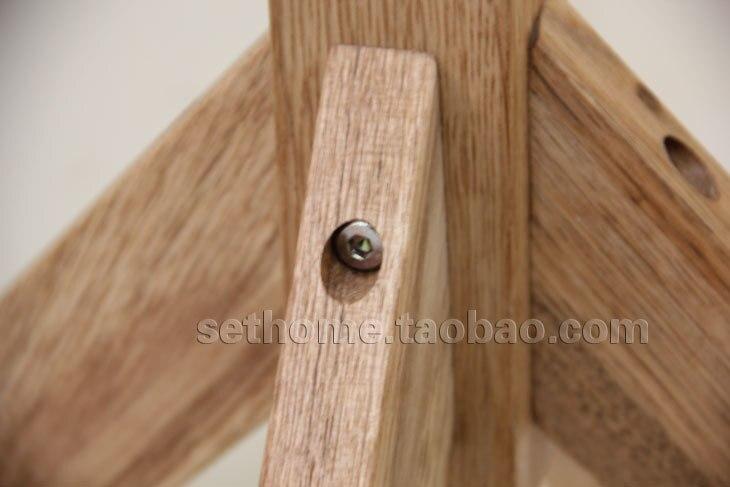 Nordic ikea stijl eenvoudig en stijlvol houten vloer kapstok hanger