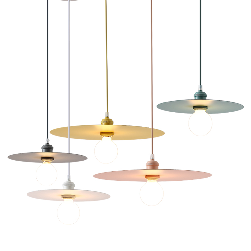Nordic macaron pendant lights creative personality restaurant lighting modern simple Couture droplight dining room hanging lamp d