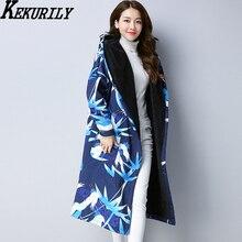 KEKURILY women cardigan windbreaker plus cotton cashmere warm thickening female coat elegant large size long trench clothing