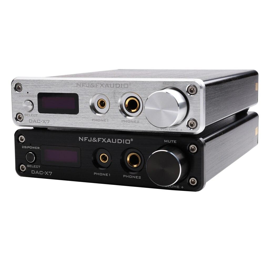 FX AUDIO DAC X7 XMOS AK4490EQ USB DAC декодер HiFi аудио усилитель наушников DSD256 OPA2604 TPA6120 USB/оптический/коаксиальный/AUX