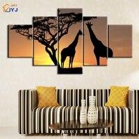 Afrykański Żyrafa Obraz Spray Painting Wall Art dla Pokoju Gościnnego Home Decor HD Drukuj Obraz Olejny na Płótnie Prezent Unframed PT0209