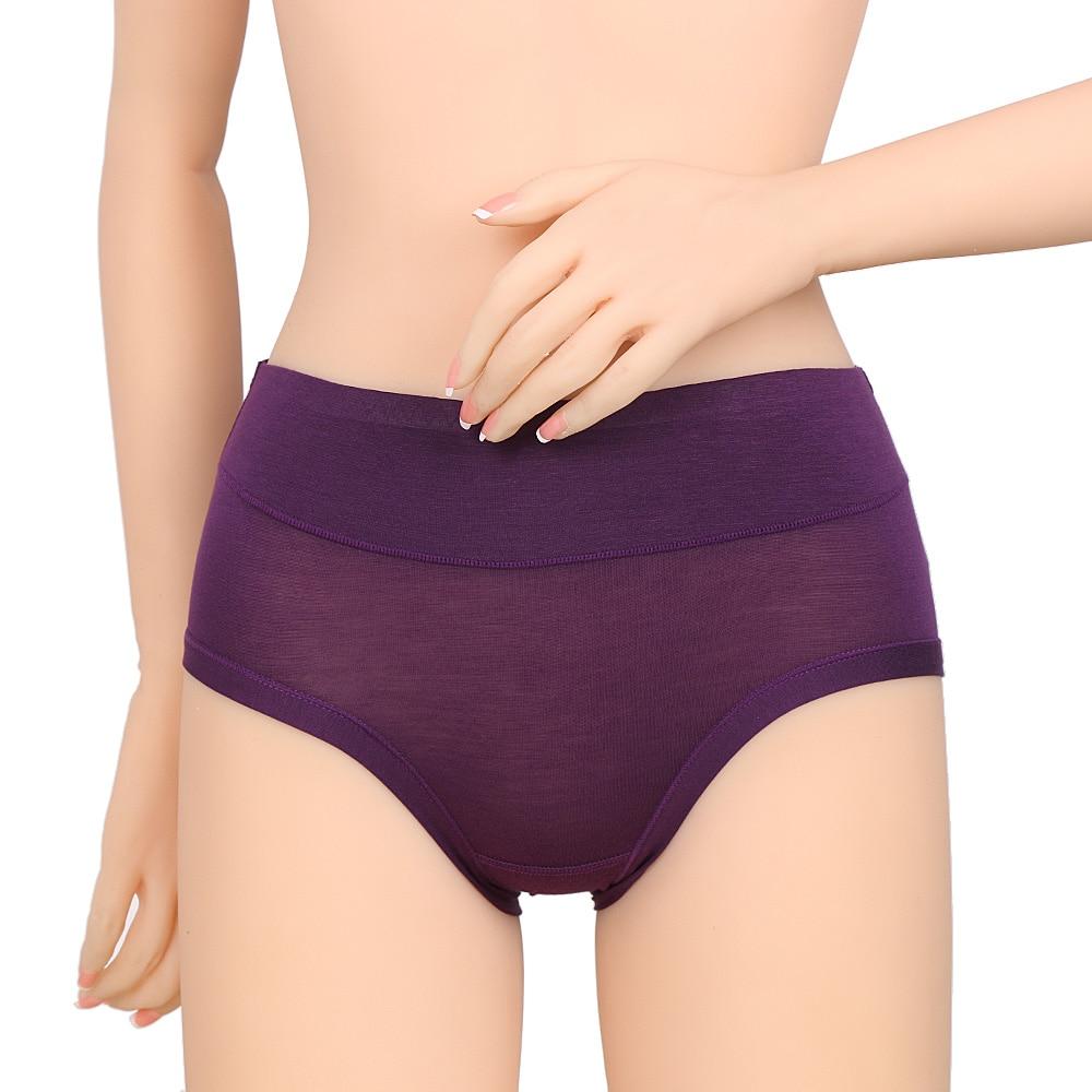 Women/'s Antibacterial Bamboo Fiber Underpants Briefs Underwear Middle Waist Fash