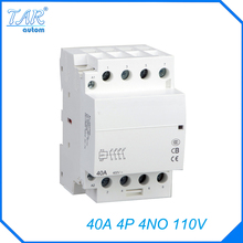 Din rail household AC contactor  40A 4P 4NO 110V Household contact module Din Rail Modular contactor