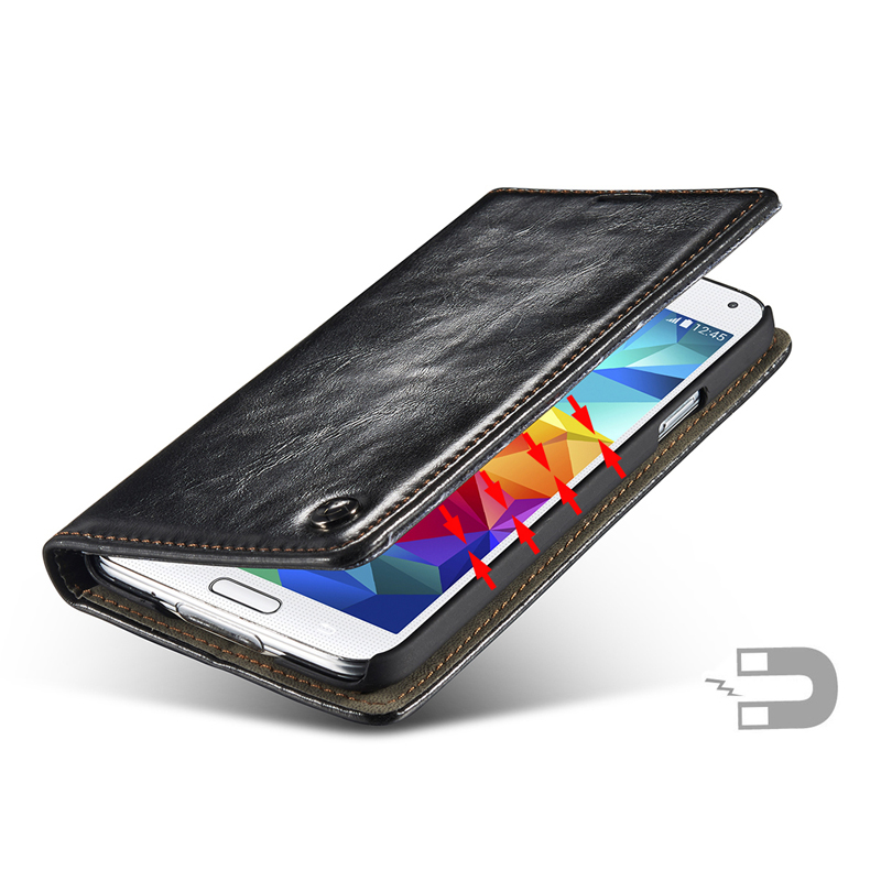 luxury coque for samsung s5 case filpleather magnetic card. Black Bedroom Furniture Sets. Home Design Ideas
