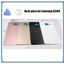 New For Samsung GALAXY A3 A5 A7 A9 2016 Back Glass Battery Cover A310 A510 A710 A910 Rear Door Housing With LOGO and tools
