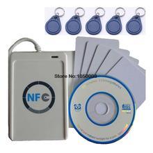 Usb ACR122U-A9 NFC чтения писателя дубликаторы rfid-тегов смарт-карт + 5 шт. UID сменные карты + 5 шт. UID брелок + 1 SDK CD