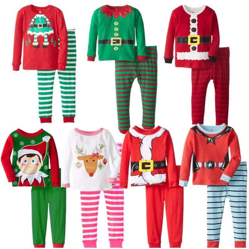 купить Baby Girl Clothes Christmas Pajamas Santa Claus Cartoon Nightwear Pyjamas Kids Winter Sleepwear Children's Homewear Pijamas Suit по цене 596.34 рублей