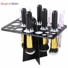 Graceful Makeup Folding Collapsible Air Drying Cosmetic Brush Organizer Tree Rack Holder  display shelf  AUG22