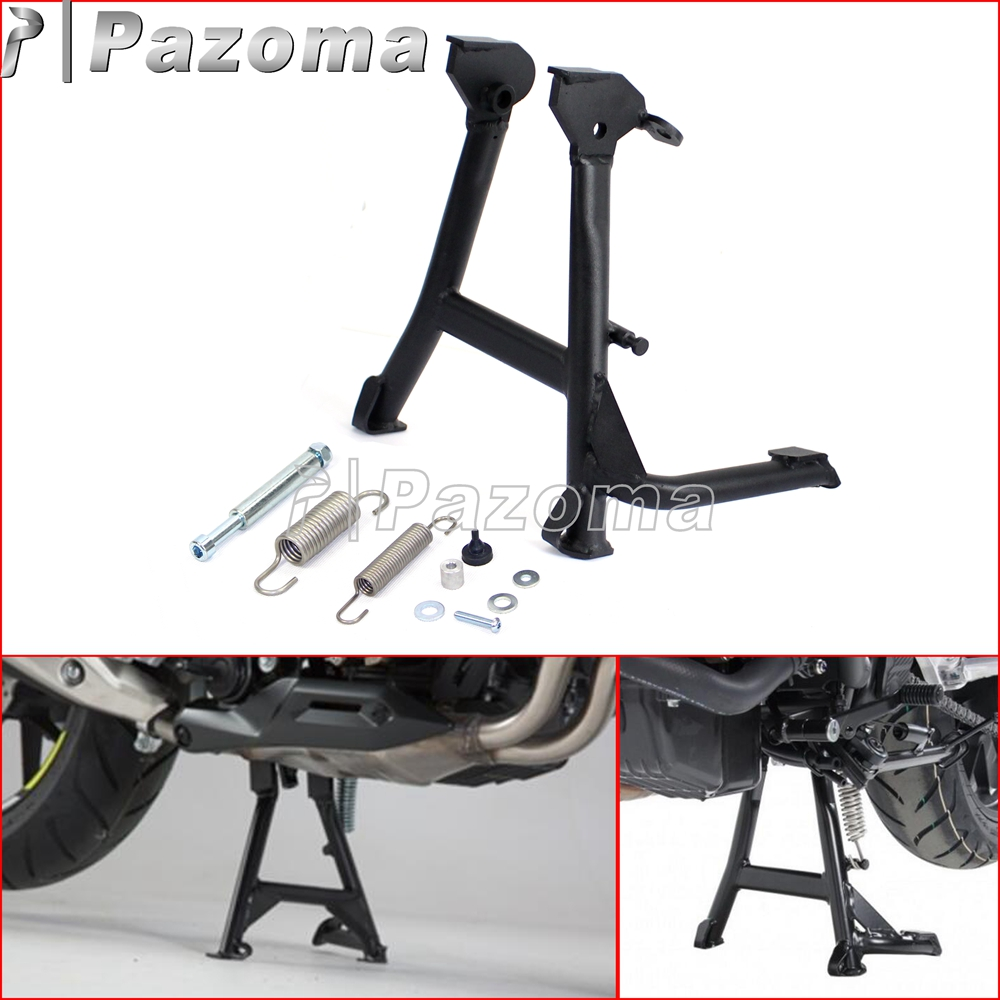 Pazoma Black Steel Motorcycle Center Stand Parking Rack Support Centerstand for Honda <font><b>CB500X</b></font> CB500XA <font><b>2013</b></font> 2014 2015 2016 image