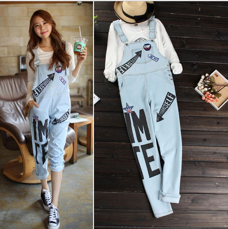 Korean Style Fashion Women Full Length Denim Rompers Jumpsuits Casual Summer Short Hole Street Jeans On Aliexpress
