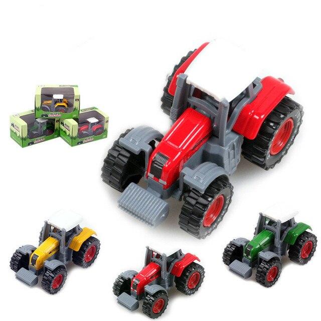 Petani senang traktor Diecast Logam mobil toy dengan musik ringan simulasi kendaraan model mobil favorit anak laki-laki mainan hadiah untuk anak traktor