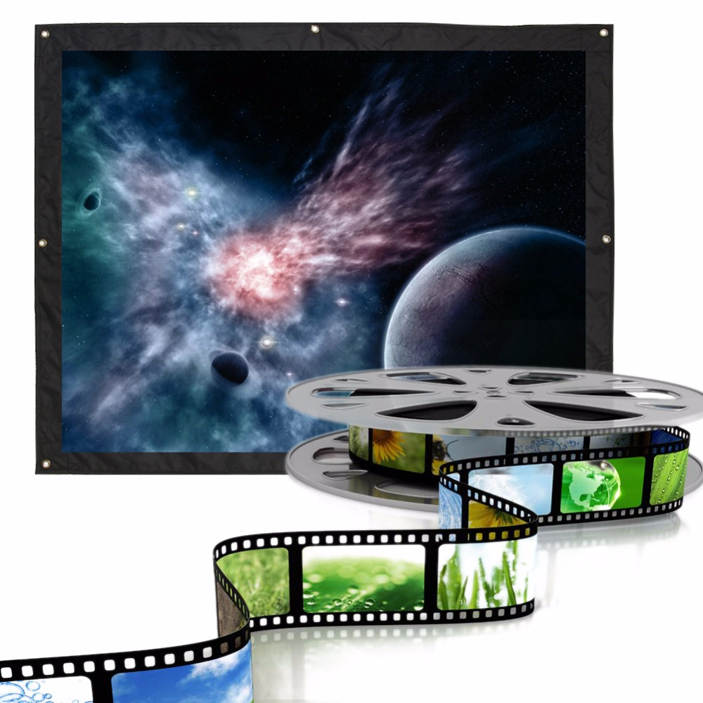 120 Inch 4:3 Indoor Outdoor Film Theater Movie Projection Screen Projector Matte White 24 dark gray gray white holographic rear projection screen transparent rear projector film indoor hologram advertising