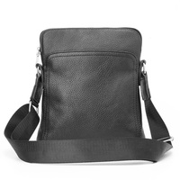 Genuine Leather Men Bag Casual Business Men Shoulder Crossbody Bag High Quality Cowhide Zipper Fashion Male