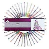 LolliZ Children Colored Art 100Pcs Gel Pens Set Colors Included Classic Glitter Neon Standard Milky Swirl