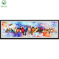 5d Crystal Embroidery Colorful Birds Room Accessories Canvas Oil Painting Textile Rhinestone Needlework Square Diamond Painting