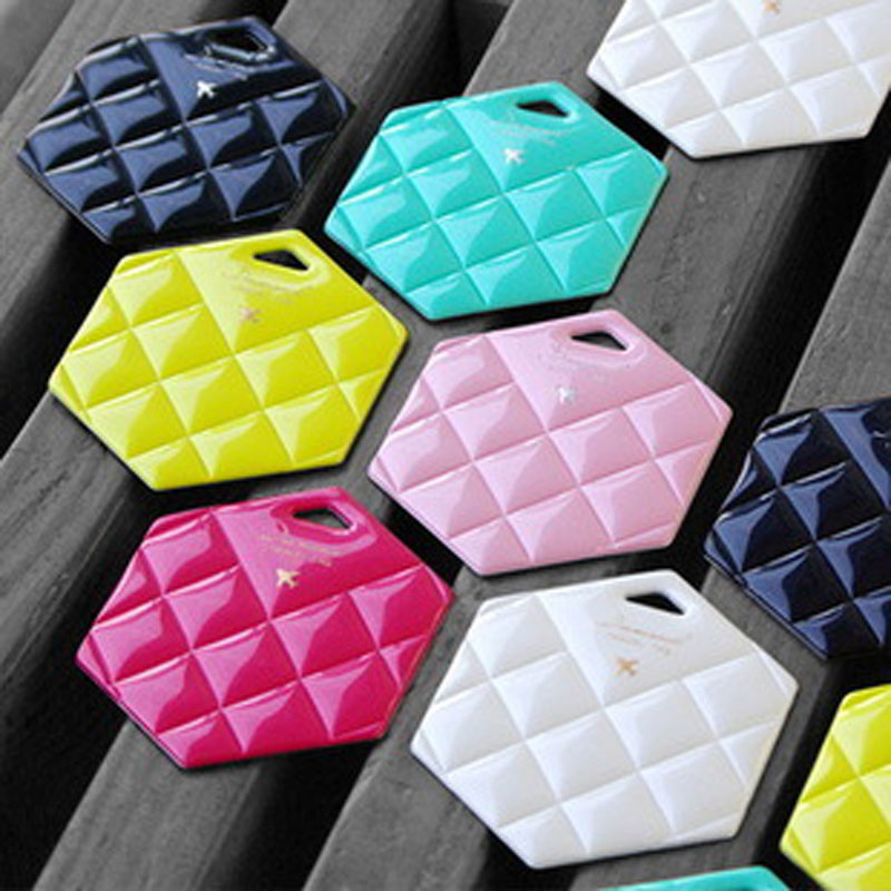 OKOKC Travel accessories Shining Diamond Style Luggage Tag/Label suitcase bags pendant Hexagon luggage creative gifts T2014
