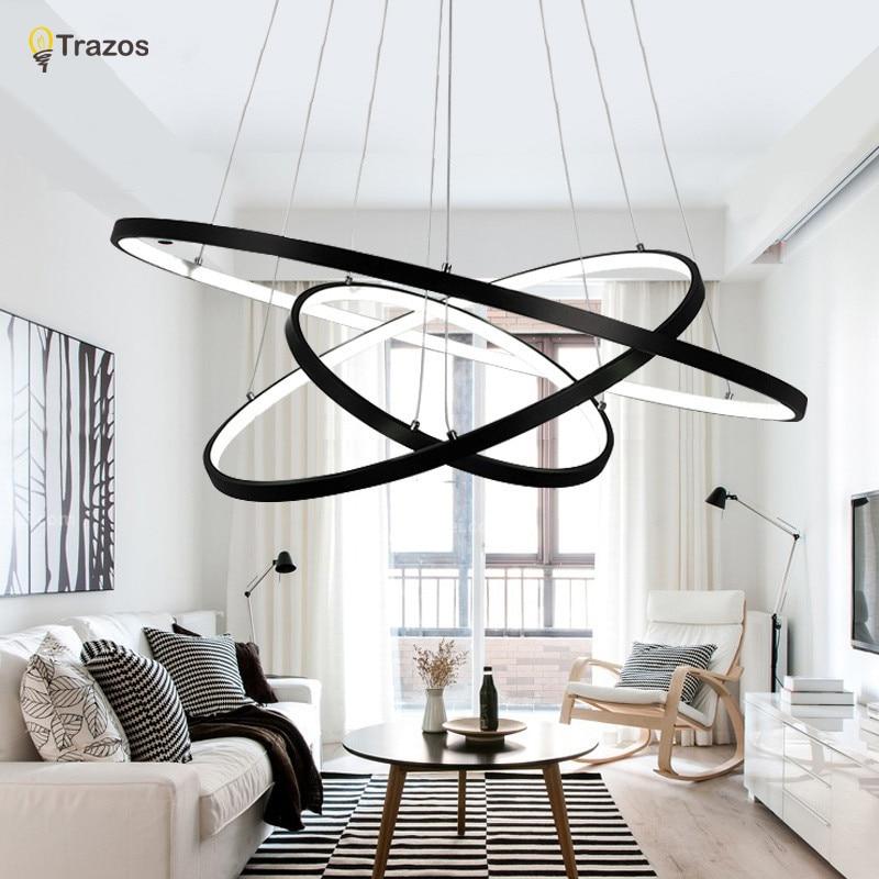 Modern led simple pendant lights lamp for living room for Living room hanging lights