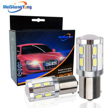 цена на 2PCS 1156 LED P21W BA15S Led Bulb Cree Chip 12 SMD 5730 Auto Brake Turn Signal Reverse Light Automobiles R5W Lamp 12V White