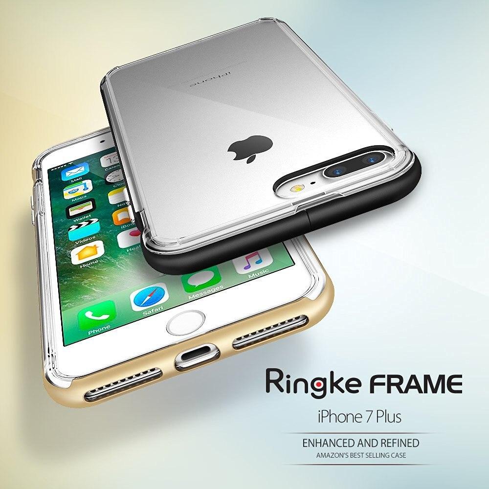 100% Original Ringke Frame Cases for iPhone 7 Plus 5.5 inch Dual-Layer TPU Capsule PC Frame Premium Case for Apple iPhone 7 Plus