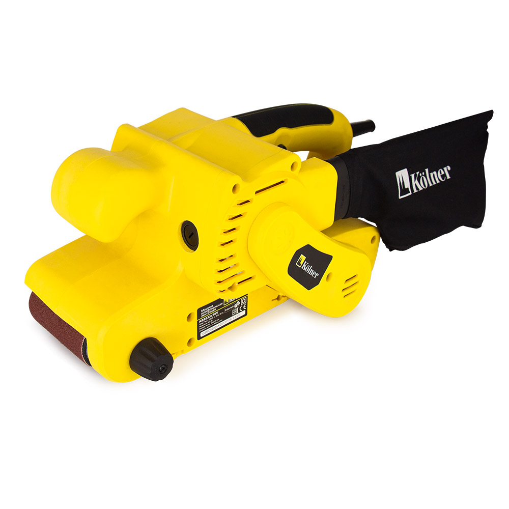 Belt grinder Kolner KW 533h76V 4 6 inch od diagonal rubber contact wheel belt grinder wheel abrasive belt set 50mm width