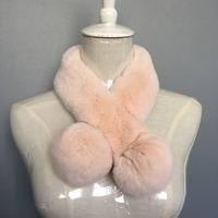 Factory Direct Sale Korea Style Women S Fashion Genuine Rabbit Fur Scarf Retail And Wholesale DJW16