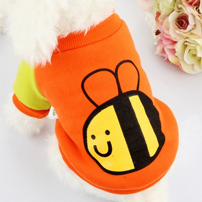 NEW fashion Bee cat pet small dog puppy free leisure costumes clothes shipping high quality 100% cotton cat suit honeybee Tshirt