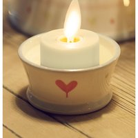 Ksperway Flameless Coin Battery Operated Tealight Candles: Unscented ABS Plastic with Timer/Remote Ivory Set of 4