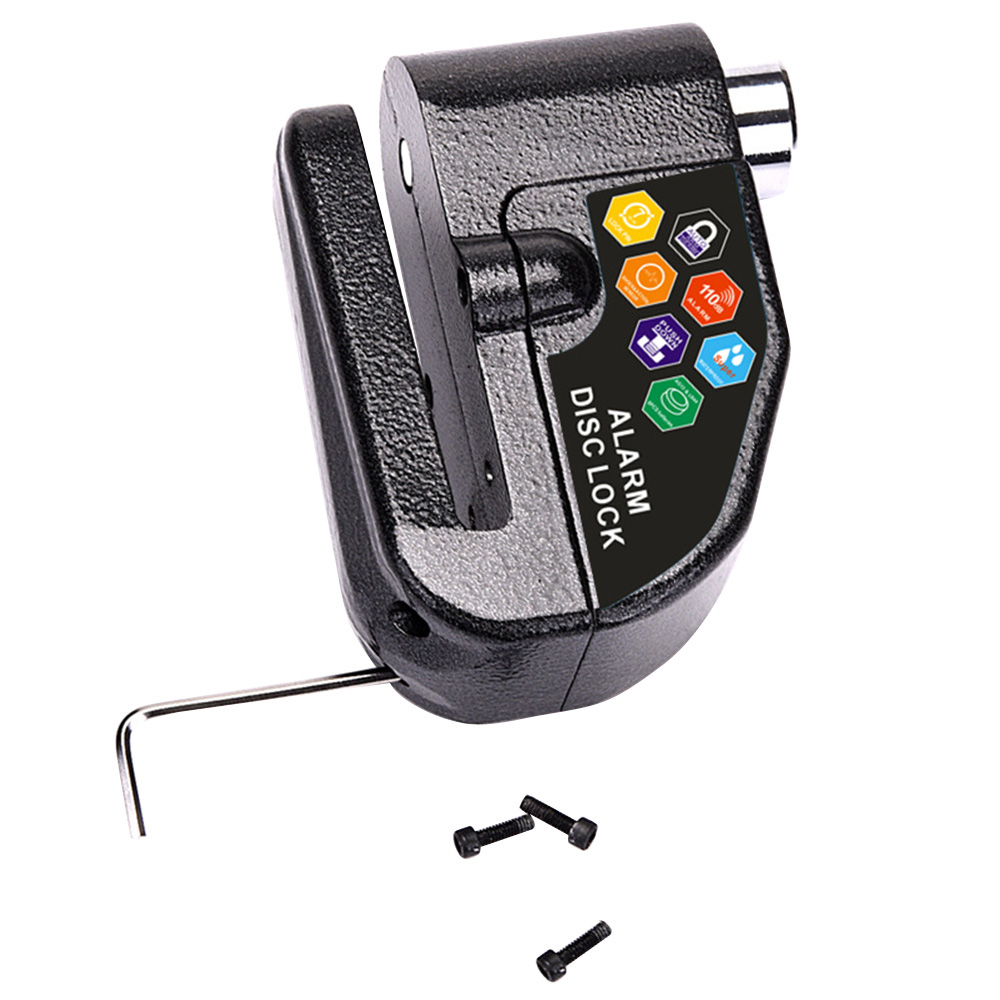 110DB Motorcycle Alarm Lock Motorbike Anti-theft Alarm Wheel Disc Brake Security Safety Siren Lock