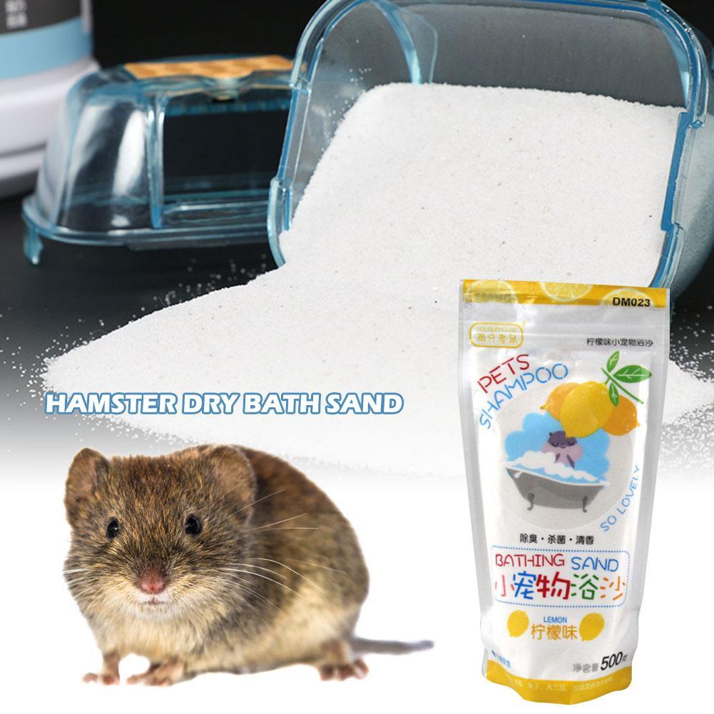 Hamster Bathing Sand Cleaning Supplies Serilization Deodorant Bath Sand For Degus Gerbil Chinchilla Hedgehog Guinea Pig 500G