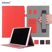 Alabasta For iPad Mini1 2 3 Case Luxury Genuine Leather Surface + Silicone Protection Stand Card pouch Pocket With stylus pen