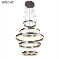 Moderno LED Lampade a sospensione Per Foryer Soggiorno 5 Anelli del Cerchio Lampada a Sospensione Creativo LED Lustre Hanging Casa Apparecchio Suspendu