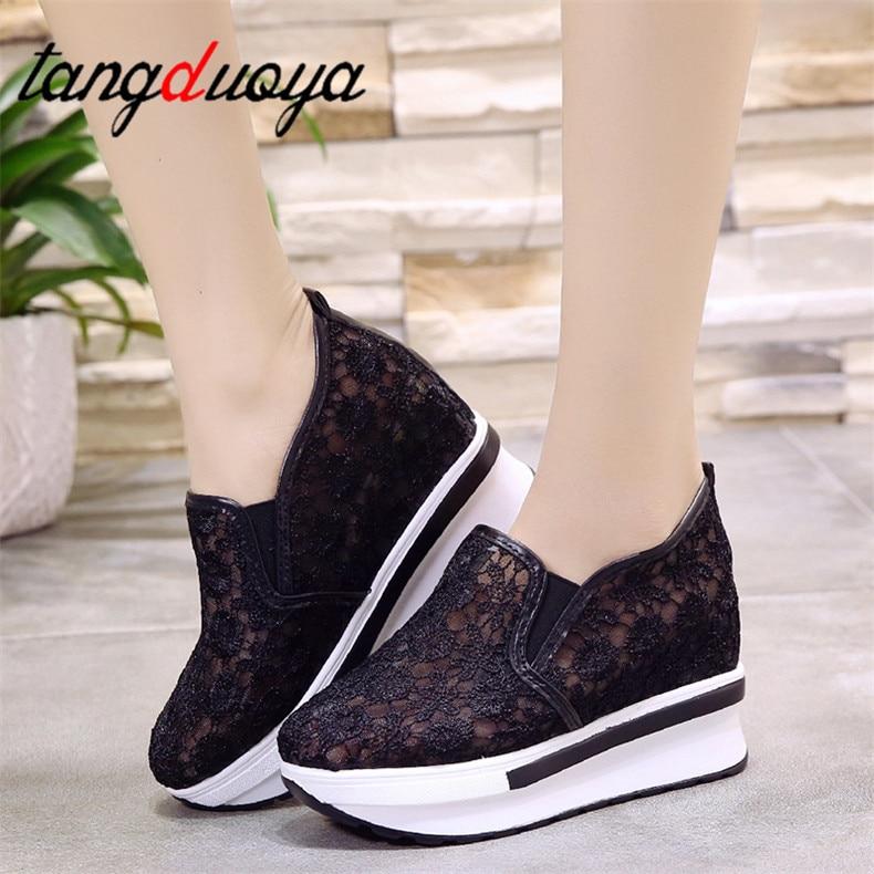 Wedge Platform Sneakers Women Breathable Casual Shoes Women Summer Sport Shoes Woman Sneakers 2020 Zapatillas Mujer