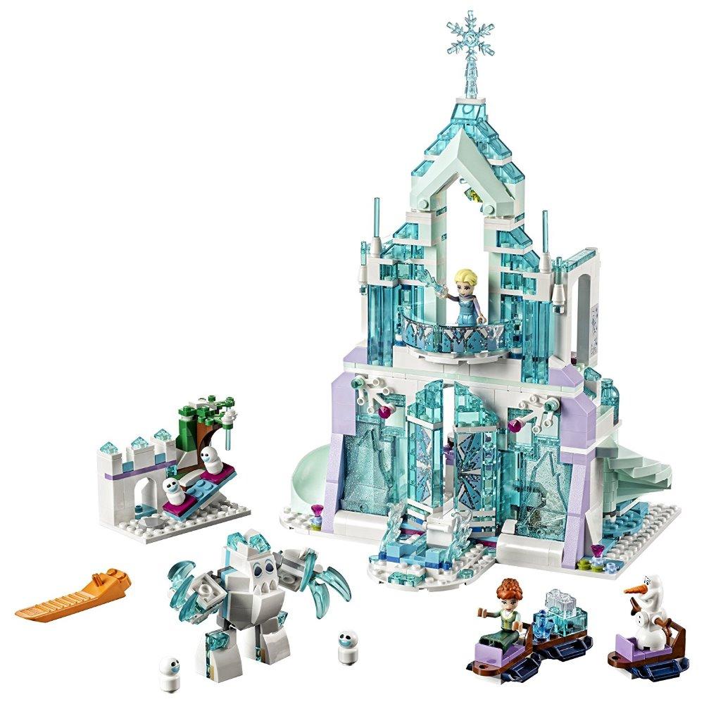Lepin 25002 731pcs Snow World Series The Elsa`s Magical Ice Castle Set Building Blocks Bricks Toys Girl friend with 41148