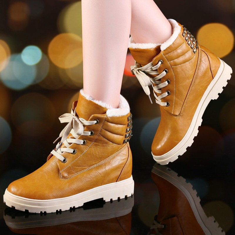 NEW hot High Quality Brand Women Lace-up Martin Ankle Boots Genuine Leather Round Toe Motorcycle Boots For Winter Shoes Woman designer luxury designer shoes women round toe high brand booties lace up platform ankle boots high quality espadrilles boot