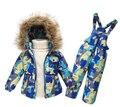 Дети зимняя одежда комплект мальчики лыжный костюм девушка пуховик пальто + комбинезон , 1 - 6 лет детская одежда для мальчика / девочка