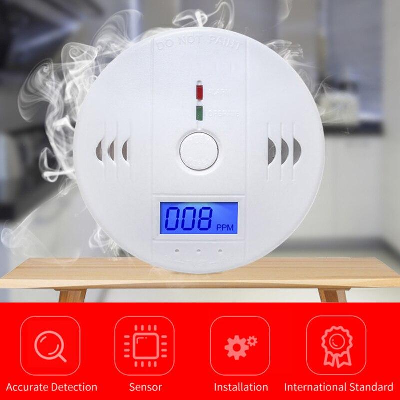 CO Gas Sensor Detector Carbon Monoxide Poisoning Alarm Detector LCD Photoelectric Independent 85dB Warning High Sensitive SafeCO Gas Sensor Detector Carbon Monoxide Poisoning Alarm Detector LCD Photoelectric Independent 85dB Warning High Sensitive Safe