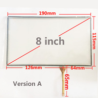 Free Shipping New 8 Inches Touch Screen Digitizer Panel 190mm 115mm Resistance Touchscreen For Car DVD