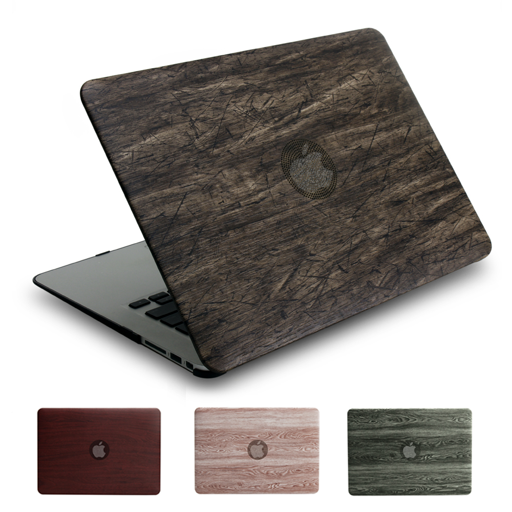 Retro PU wood grain series case for Apple macbook 11 12 13 15 inch Air Pro Retina cover  ...