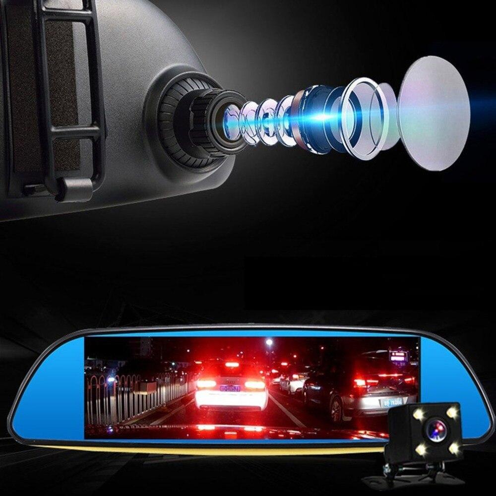 7 pouces 1080p voiture rétroviseur voiture Dvr Full Hd 1080p voiture enregistreur vidéo