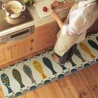 Fisch Tür Matte Alfombras Halle Bad KitchenHome Teppich Saugfähige rutschfeste Korallen Samt Matten Teppich Streifen tapete 3 Größen DD-1