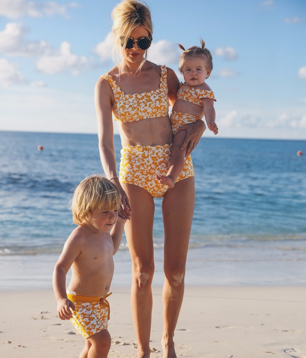 family look mother daughter bath swimsuits mommy and me swimwear bikini matching outfits clothes mom mum baby dresses clothing in Matching Family Outfits from Mother Kids