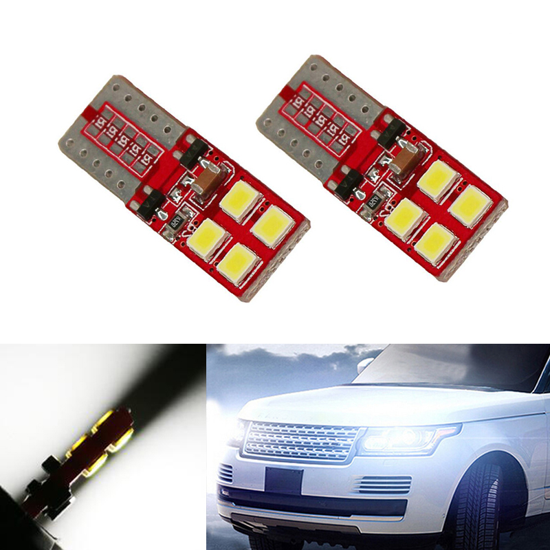 2X T10 W5W LED Wedge Light Marker Lamps Bulb For Land Rover v8 discovery 4 2 3 x8 freelander 2 defender A8 a9