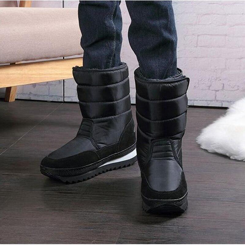 Antideslizantes Media Pantorrilla Hombre Alta Zapatos Invierno Botas Calidad Negras Grande Cálidos Negro De Para Nieve 47 Talla 2018 Impermeables 36 qnWAYY70fz