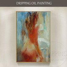 High Quality Hand-painted Wall Art Naked Oil Painting for Home Decoration Handmade Impressionist Nude Lady Body