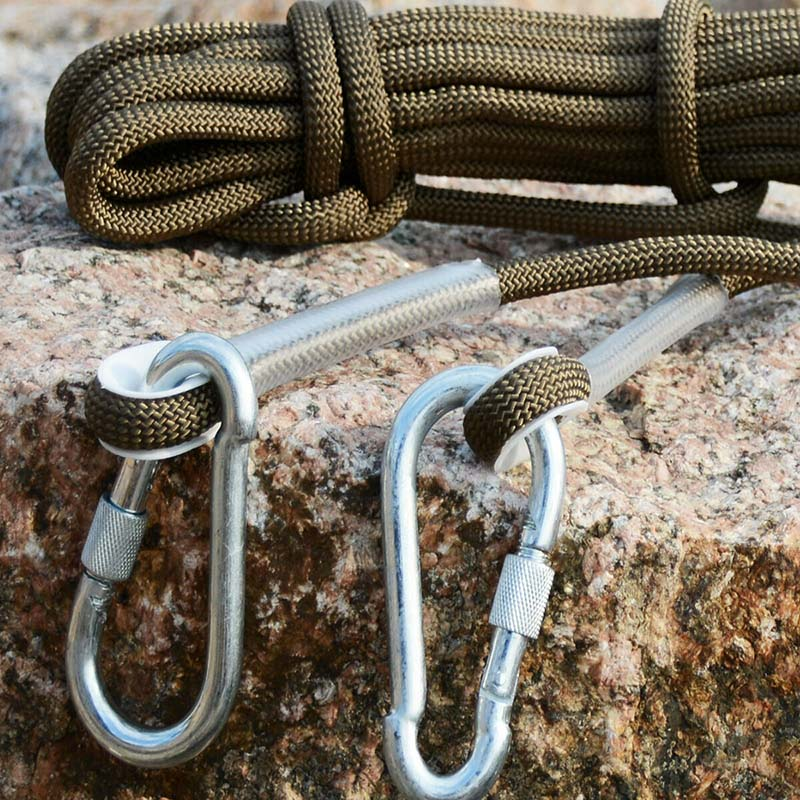 Survival Climbing Auxiliary Rope Rescue Hiking Rock Carabiner Rappelling Protection Safety Polypropylene Fiber