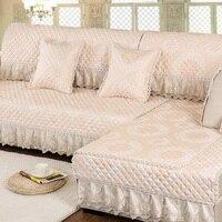 European luxury Cozy anti skid sofa cushion leather sofa cover sofa towel Pillow armrest cushio custom made