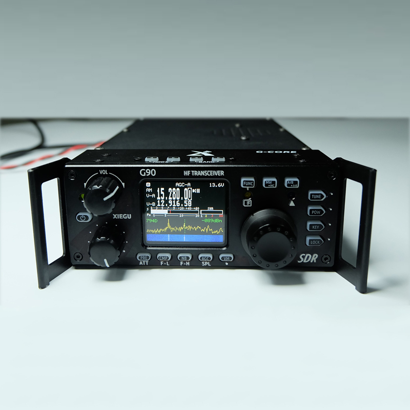 Xiegu G90 20W HF TRANSCEIVER QRP SSB CW CB air band radio swr meter sister ft-817 kt8900 image