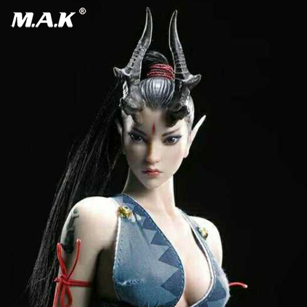 1/6 Asura The dragon lady Headplay Figure Head Model Female Head Sculpt for 12 Action Figure Collection Doll Toys Gift 1 6 scale asia special force t01 peng yuyan figure head model for 12 action figure collection toys gift