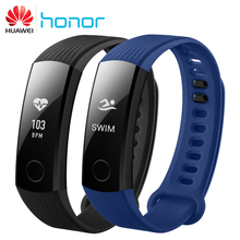 Original Honor Band 3 Smart Wristband 0.91″ OLED Screen Touchpad Swimmable 5ATM  Heart Rate Monitor Push Message Smart Band