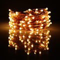 49Ft 15m 150LED Copper Wires Led Fairy Lights Chrismas Halloween String Lights Decoration Party +12V1A Adapter(EU,UK,US,AU Plug)